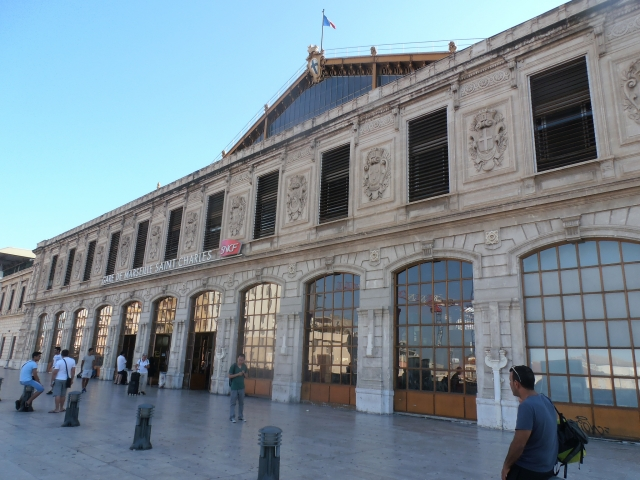 Exterior of Marseille St Charles railway station