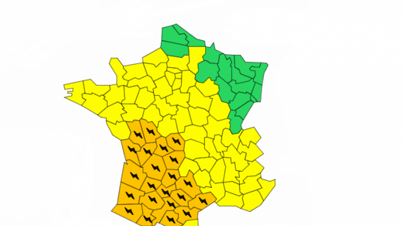 Météo-France storm warning map