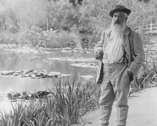 Claude Monet in his gardens at Giverny