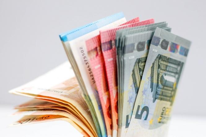 A fan of euro currency money