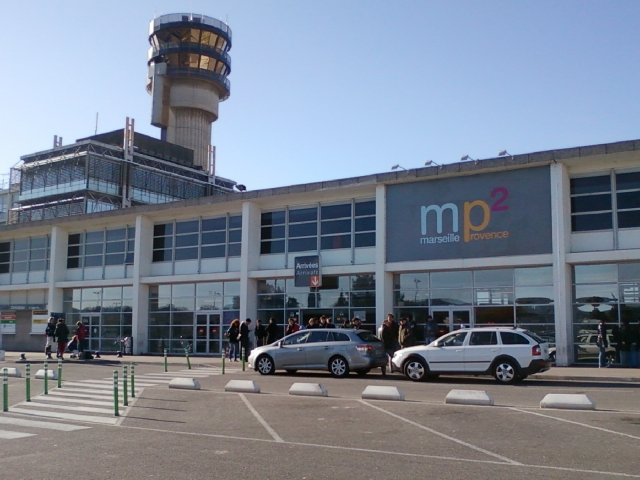 Exterior shot of the MP2 terminal at Marseille Provence airport
