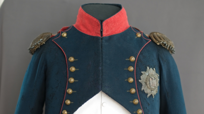 Uniform worn by Napoleon during his exile on St Helena