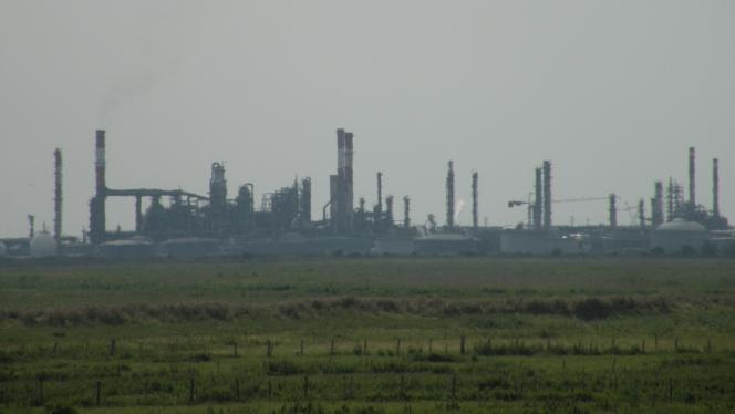 The oil refinery at Donges, Loire-Atlantique
