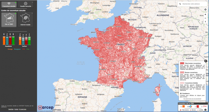 Map Of 4g Coverage France