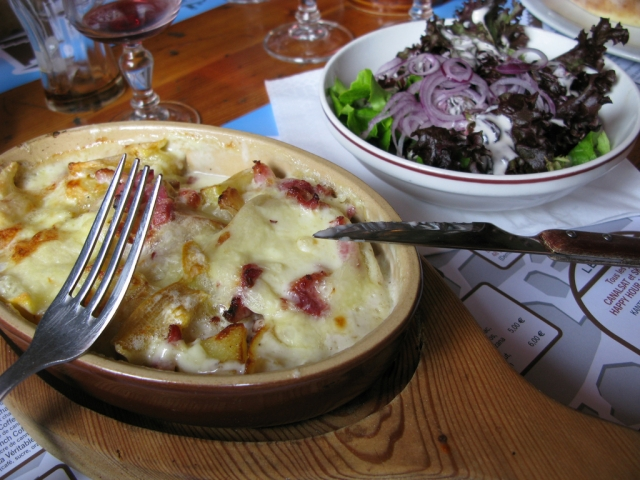 A dish of traditional Savoy meal tartiflette
