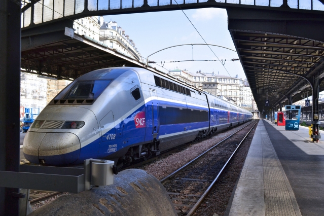 TGV train at Gare de l'Est, Paris