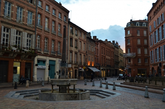 Empty streets in the city of Toulouse