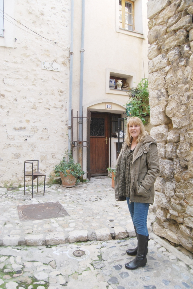 Writer Rosie Richards in Vence